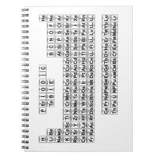 Periodic Table (v1) Spiral Note Book