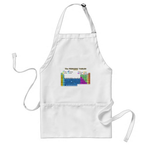 PERIODIC TABLES ADULT APRON