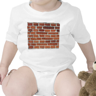 Periodic Whites Line On Aged Red Brick Baby Creeper