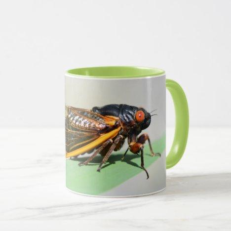 Periodical cicada mug - enjoy coffee with Brood X