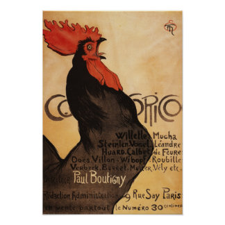 Periodical Cocorico Rooster Promotional Poster
