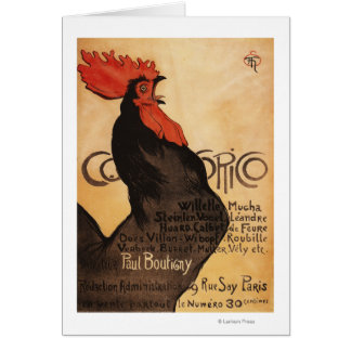 Periodical Cocorico Rooster Promotional Poster Card