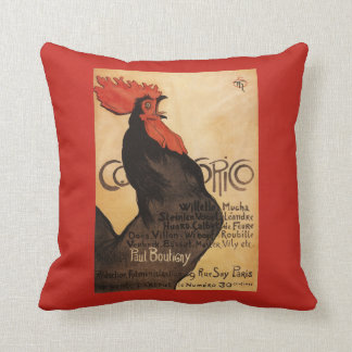 Periodical Cocorico Rooster Promotional Poster Throw Pillow