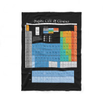 Periodical Table Fleece Blanket