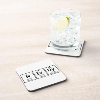 Periodically Nerdy Element Symbols Beverage Coaster