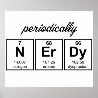 Periodically Nerdy Element Symbols Poster
