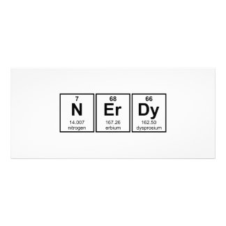 Periodically Nerdy Element Symbols Rack Card