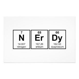Periodically Nerdy Element Symbols Stationery