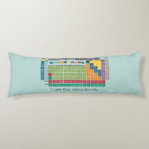 Periodically Periodic Table of Elements Body Pillow