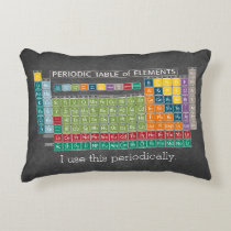 Periodically Periodic Table of Elements Chalkboard Accent Pillow