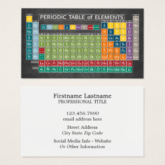 Periodically Periodic Table of Elements Chalkboard Business Card