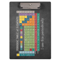 Periodically Periodic Table of Elements Chalkboard Clipboard