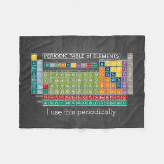 Periodically Periodic Table of Elements Chalkboard Fleece Blanket