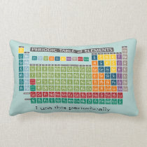 Periodically Periodic Table of Elements Lumbar Pillow