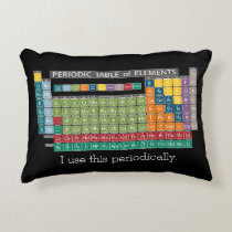 Periodically Periodic Table of Elements - Students Decorative Pillow