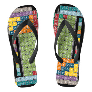 Periodic table canvas shoes printed shoes zazzle periodically periodic table of elements students flip flops urtaz Gallery