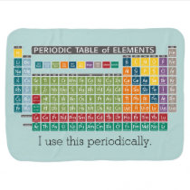 Periodically Periodic Table of Elements Swaddle Blanket