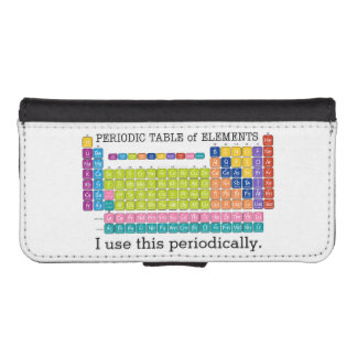 Periodically Periodic Table of Elements Wallet Phone Case For iPhone SE/5/5s
