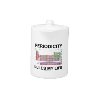 Periodicity Rules My Life (Periodic Table) Teapot