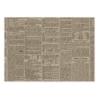 Periódico 1902 del vintage tarjeta de visita