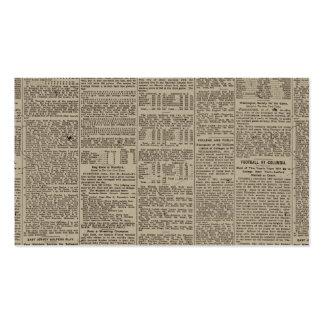 Periódico 1902 del vintage plantilla de tarjeta de visita