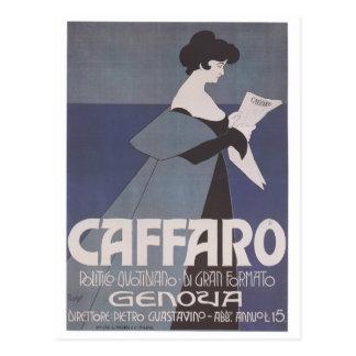 Periódico de Caffaro del ~ de Nouveau del arte Postal