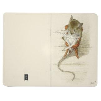 Periódico de la lectura del ratón cuaderno