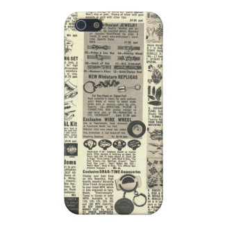 periódico del vintage iPhone 5 funda