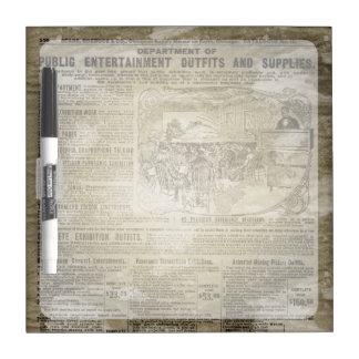 Periódico del vintage tableros blancos