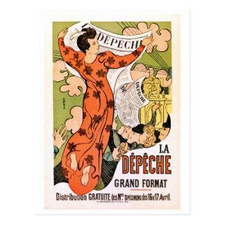 Periódico francés del nouveau del arte del époque postal