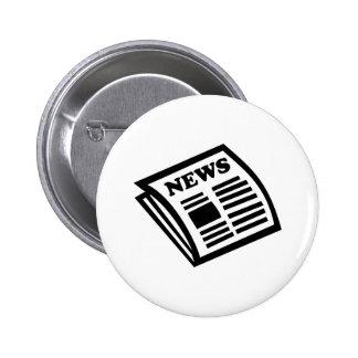 Periódico Pin Redondo De 2 Pulgadas