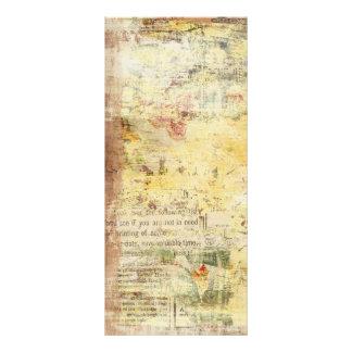 periódico pintado amarillo del vintage tarjetas publicitarias