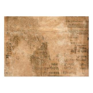 Periódico rasgado viejo dos del vintage plantilla de tarjeta de visita