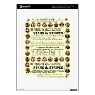 Periódico semanal de 1918 estrellas y de las rayas iPad 3 skin