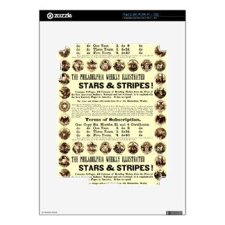 Periódico semanal de 1918 estrellas y de las rayas skin para el iPad 2