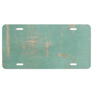 Periódico viejo del vintage de la pintura del placa de matrícula