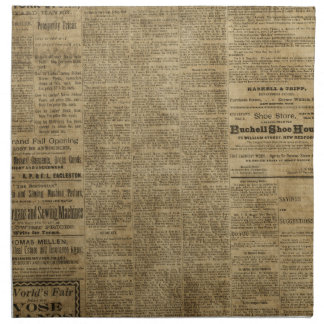 Periódico viejo del vintage servilletas imprimidas