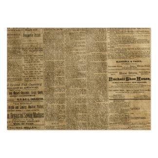 Periódico viejo del vintage plantillas de tarjeta de negocio