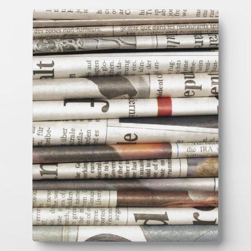 Periódicos Placa De Plastico