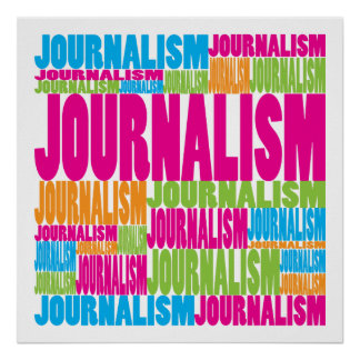 Periodismo colorido póster