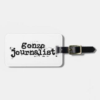 Periodista de Gonzo Etiqueta De Equipaje