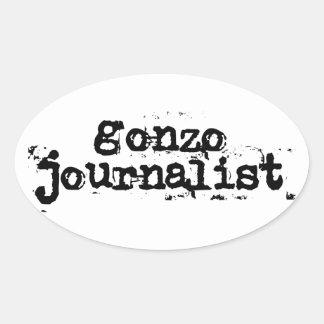 Periodista de Gonzo Pegatina Ovalada