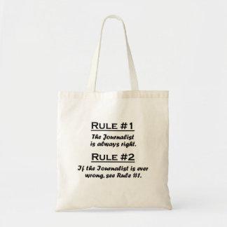 Periodista de la regla bolsa