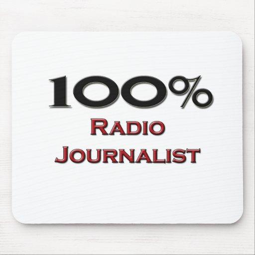 Periodista de radio del 100 por ciento alfombrillas de ratón