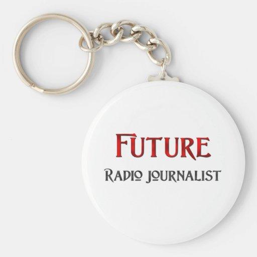 Periodista de radio futuro llavero personalizado