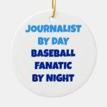 Periodista del fanático del béisbol del día por no ornamento para reyes magos