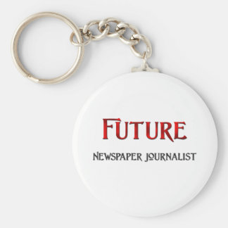 Periodista futuro del periódico llavero redondo tipo pin