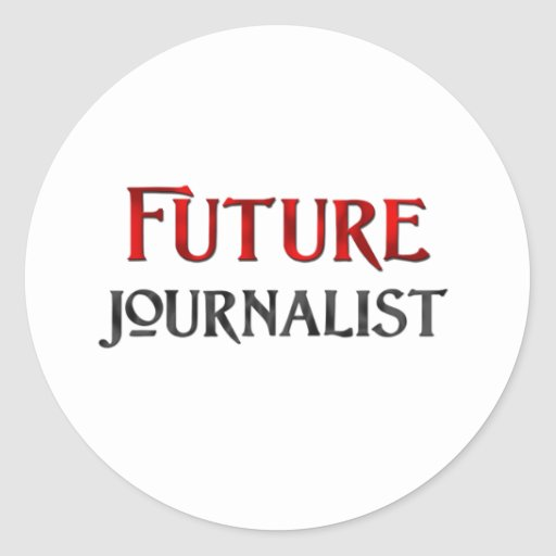 Periodista futuro pegatina redonda