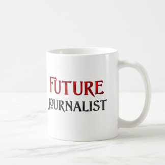 Periodista futuro taza básica blanca