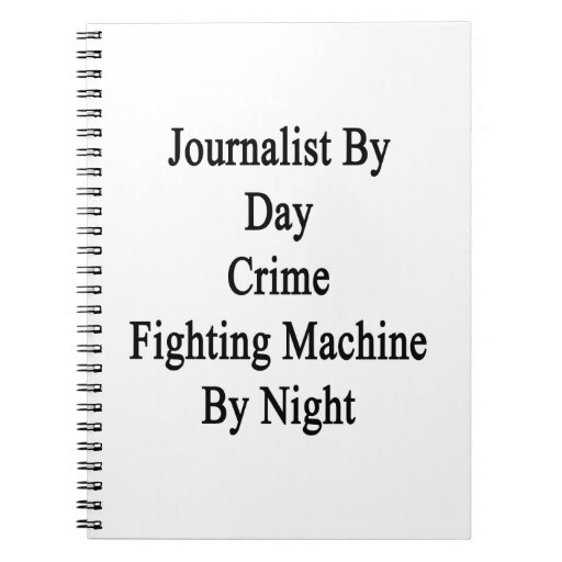 Periodista por la máquina que lucha del crimen del libros de apuntes